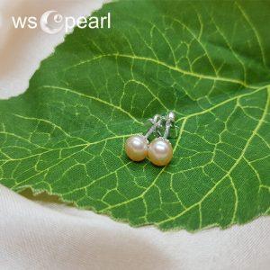 Bông tai ngọc trai màu trắng tự nhiên