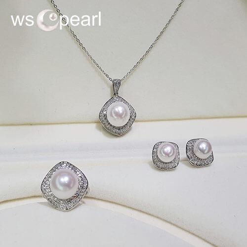 Bộ trang sức bạc ngọc trai-Vẻ đẹp tự nhiên đến từ viên ngọc trai nước ngọt màu trắng